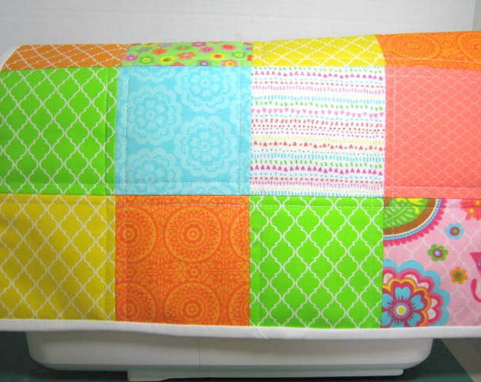Bright Patchwork Quilted Sewing Machine Dust Cover, JDCreativeHands