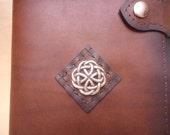 Journal- Leather-Refillable Hard Cover-Acid Free Artist Loft Paper-Celtic Knot