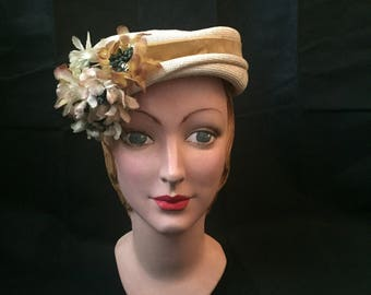 1950s summer pillbox hat