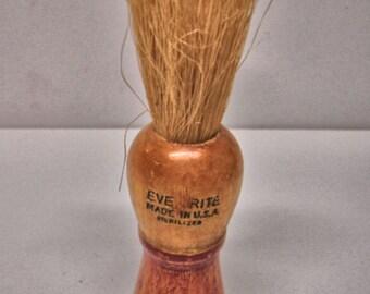 Vintage Ever Rite Men shaving Brush Wood Handle Rare Brush Lot no. 304