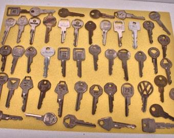 Vintage lot of 48 Car Keys Auto Keys Ford- GM-Chrysler-VWagon Plus Vintage Keys Lot No. 50