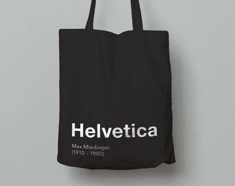 Graphic Design Tote Bag (Helvetica)