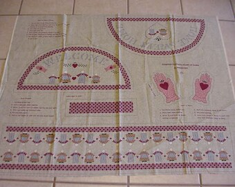 Vintage Clountry Classics Heart in Hand Fabric Panel, by Ameritex, Welcome Sign or Pillows, 3 Projects.