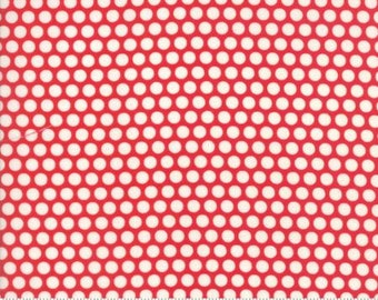 Bliss Dot Red Basics by Bonnie and Camille from Moda -1 yard
