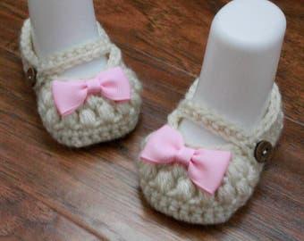 Baby Booties, Crochet Baby Booties, Crochet Mary Janes
