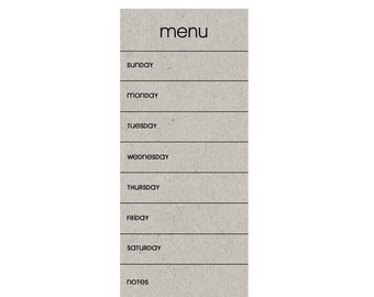SKINNY MENU Planning Magnet in Grey Color