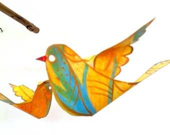 DIY Baby Mobile, Crib Mobile, Create Your Own Birds Mobile, DIY Kit Includes All Materials