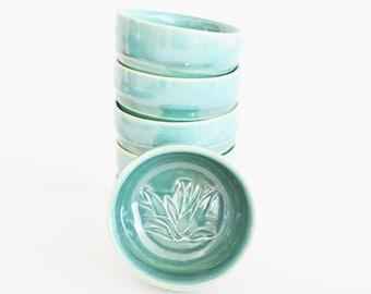 IN STOCK, Stamped Copitas for Mezcal, Pottery Green Mezcal Glasses, Shot Glass Set, Copitas de Mezcal, Holiday Gift for Him
