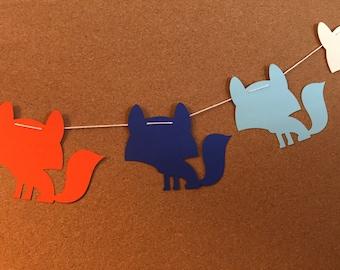 Fox garland, baby shower garland, Fox garland, Fox paper garland, birthday banner