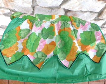 Vintage Mid Century Tropical Flower Cooking Apron