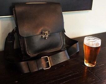 Leather Crossbody Bag/Mens Leather Handbag/Leather Messenger Bag/Rustic Brown Bag/Shoulder Satchel Bag Gifts for Men