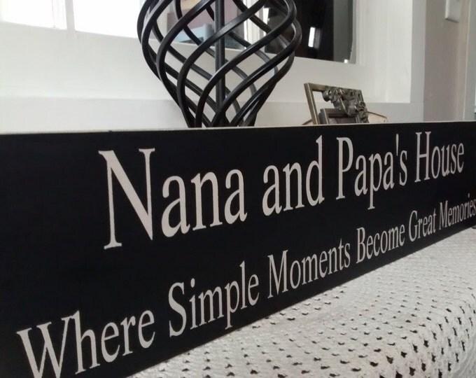 Personalized grandparent gifts, Nana Papa gift, Great Grandparent gift idea, Grandma sign, from Grandchildren, Grandparent House Sign, Nana