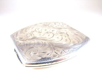 Birks Sterling Compact Victorian Revival Design Signed Hallmarked Collectible Vintage Estate Item Gifts For Her