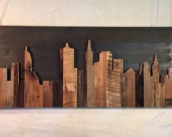 "Hand Crafted San Francisco 48"" Skyline"