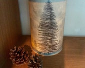 Christmas tree night light - candle shade - candle lantern - hygge candle