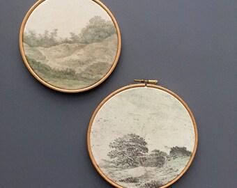 Landscape prints - circular prints