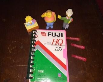 Fuji Vhs handmade notebook