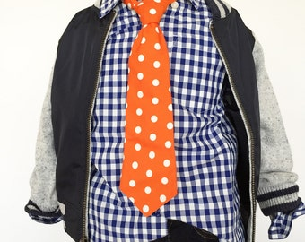 Orange Dot Necktie