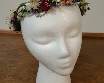 wedding hair accessories, bridal head crown, bridal hair flower, dried flower crown, hair crown, wild flower, dried headpiece, ready to ship