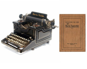 Harris Visible No.4 Typewriter Instruction Manual Instant Download