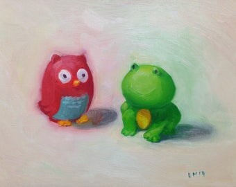 Still Life Oil Painting titled 'Emmy's toys'