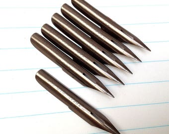 6 vintage George W Hughes pen nibs, Treasurer Pen, 6 unused vintage nibs. (Box not included).
