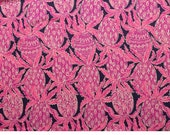 Bright Navy Coco Safari  9 X 18 inches or 18 X 18 inches cotton dobby  ~Lilly Pulitzer~