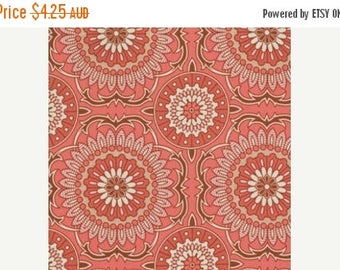 40% OFF SALE Joel Dewberry Fabric - 1 Fat Quarter Bungalow -  Doily in Coral / Free Spirit Fabric
