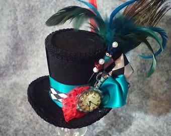 Alice in wonderland mini top hat costume piece