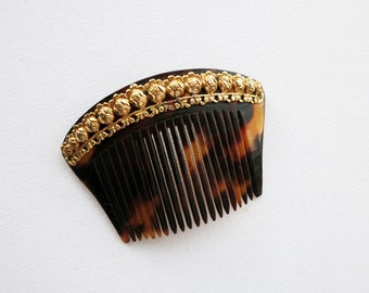 Small Antique 18K Gold Payneta Peineta Hair Comb Accessory from the  Philippines
