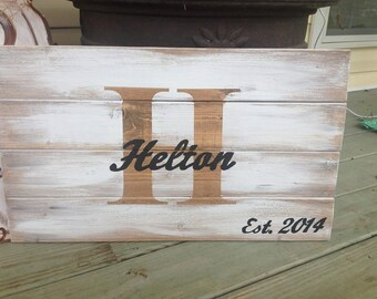 Last Name Pallet Sign, lnitial Sign, Anniversary Sign