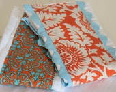 Set of 2 Decorative Burp Cloths