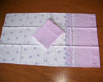 Pair of Vintage Lavender Print All Cotton Pillowcases