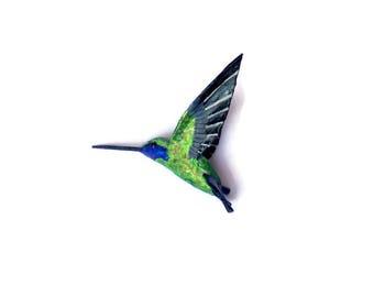 hummingbird art paper mache sculpture tropical bird decoration
