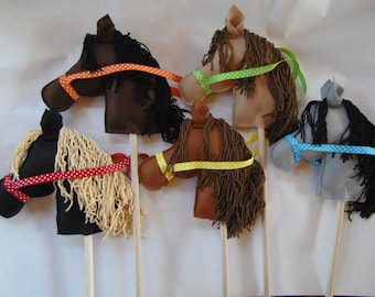 Stick Ponies, Stick Pony, Stick Horse, Stick Horses, Horse Party Favors, Party Stick Ponies, Toy horse, Child's Stick Horse or Pony