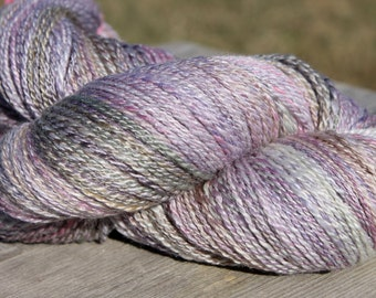 Hand spun yarn, BFL silk 80/20, large skein,approx. 648 yards