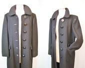 Black Coat / Vtg 60s / Ha...