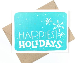 happiest holidays - cute holiday card