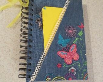Embroidered Denim Notebook / Journal Album