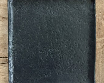 Dark grey,  platter/plate, with textured surface