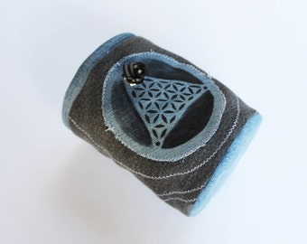 Upcycled Sacred Geometry Chalk Bag - Rock Climbing