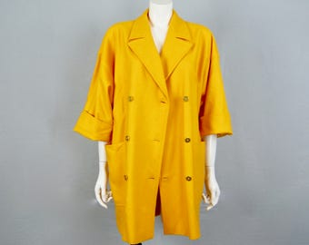 MARELLA by MaxMara made in Italy Vintage 1980s Mustard Yellow Double Breasted Jacket