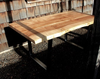 Maple Dining Table // Natural Edge Table // Live Edge Dining Table // Live Edge Desk // Live Edge Table // Custom Dining Table