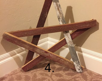Rustic Star Wall Decor, Reclaimed Wood Star, Repurposed Wood Star, Rustic Decor, Star Wall Hanging, Reclaimed Wood Decor, Wood And Tin Star