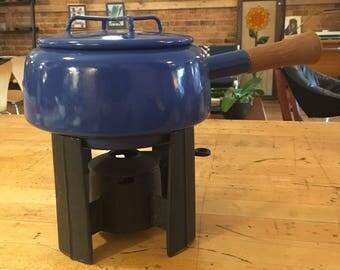 DANSK dark blue fondue set, excellent condition!