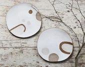 Set of 2 Ceramic Side Plates - Pottery Plates - Rustic Plates - Stoneware Plates - Ceramic Dinner Plates