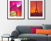 30% OFF SALE: Any TWO Prints - Save 20 Percent,Set of two Illustrations,Fine art illustration Giclee Print Art Poster Paris Home decor Large