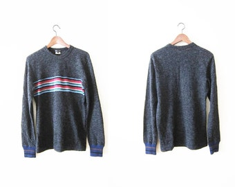 Commes des Garcons Sweater / Striped Sweater /  Rainbow Sweater /Vintage CDG / 90s Sweater / Alpaca Sweater / Pullover Sweater