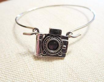 Camera bracelet -Camera necklace -Amethyst Necklace -Photographer necklace-Garnet necklace-Birthstone necklace- Art Photo