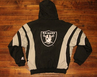 Oakland Raiders starter jacket vtg NFL football vintage pullover winter coat kids XL